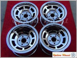 "Set of 4 Chrome Chevrolet Corvette C1 C2 C3 15"" Factory Wheels Rims 1045"