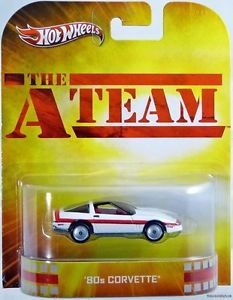 The A Team 80's Corvette 2013 Hot Wheels Retro Entertainment Car