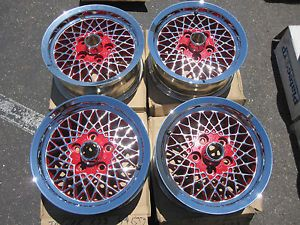 "Jaguar XJ6 XJS XJ 15"" Wheels Set Rim 59673 ""Lattice"""