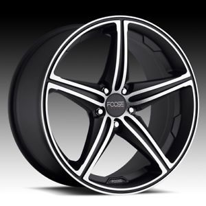 "19"" Wheels Rims FOOSE Speed Black Challenger Charger Magnum Chrysler 300C SRT8"