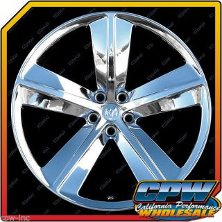 "22"" inch Chrome Wheels Rims 5x115 5 Lug Dodge Charger Challenger Chrysler 300C"