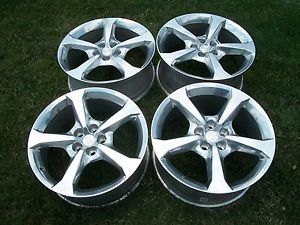 "Chevrolet Camaro 2013 20"" Factory Staggered Wheels Rims 5576 5580 Set 4"