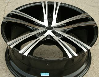 "Strada Primo 292 22"" Black Rims Wheels Chrysler Aspen Dakota 22 x 8 5 5H"