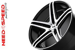 "20"" XO Caracas Brushed Black Concave Wheels Rims Fits Infiniti G35 Sedan"