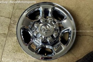 "2014 Dodge RAM 3500 Factory 18"" Steel Chrome Wheels 2500 Like New"
