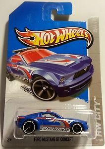 "2013 Hot Wheels Treasure Hunt "" Ford Mustang GT Concept "" HW City Int Case L"