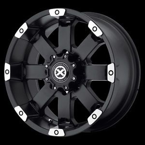 17 inch Black Wheels Rims Chevy Truck Silverado 2500 3500 1500HD Dodge RAM 8 Lug