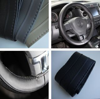 New Leather Steering Wheel Wrap Cover 47007 Black Hummer Fiat Car Needle Thread
