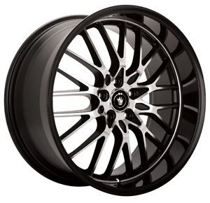 Konig Lace 19x9 5 5x114 3 ET45 Black Wheels Fit Mazda 3 5 6 IS250 IS300 TC XB