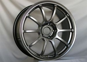 18 Rota G Force Hyper Black Rims Wheels 18x8 5 48 5x114 3 Mazda3 SPEED3 Accord