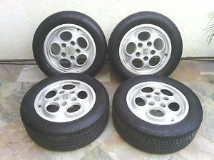 Porsche 944 Dial Phone Wheels Rims with Tires Set of Four
