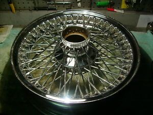 Chrome 72 Spoke Wire Wheel for Jaguar E Type Aston Martin Allard