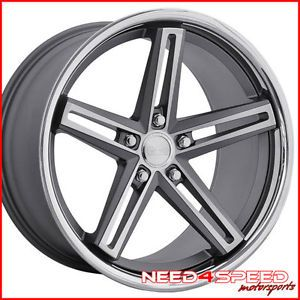"20"" Hyundai Genesis Coupe Concept One CS55 Gunmetal Concave Wheels Rims"