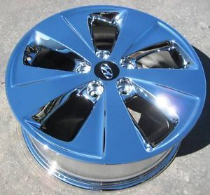 "Set of 4 New 17"" Factory Hyundai Sonata Hybrid Chrome Wheels Rims 2011 2013"