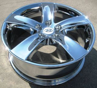 "Exchange Your Stock 4 New 18"" Factory Hyundai Veracruz Chrome Wheels Rims"