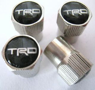 TRD Valve Caps Tires Rims Wheels Scion Fr s TC XD Toyota Tacoma Tundra Blk White