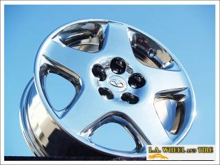 "Set of 4 New Chrome 17"" Infiniti I30 T Wheels Rims J30 Q45 M35 M45 I35 73657"