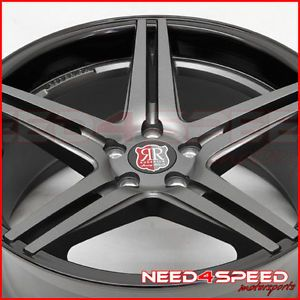 "20"" Roderick RW7 Concave Staggered Wheels Rims Infiniti G37 G37S Coupe"