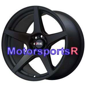 17 XXR 535 Flat Black Rims Wheels Staggered Concave 4x114 3 89 Nissan 240sx S13