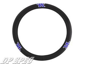 UK Kentucky Wildcats NCAA Genuine Leather Steering Wheel Cover BMW Jaguar