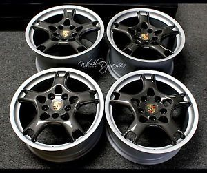 "PORSCHE19"" Carrera s Wheels Rims Gun Metal 996 C2 C4 Turbo C4S 928 944 997"