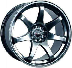 16 XXR 522 Chromium Black Rims Wheels 16x8 0 4x100 BMW E30 Scion XB Mazda Miata