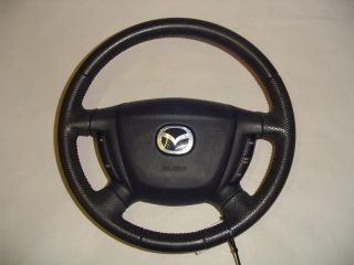 01 04 Mazda Tribute Black Leather Steering Wheel Air Bag 2001 2002 2003 2004 199