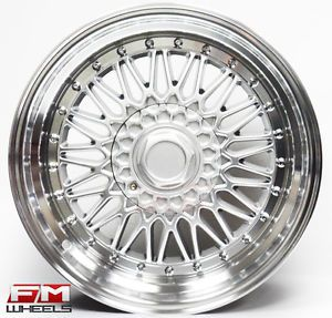 18x9 Str RS 606 Mesh Style Wheels 5x100 Subaru WRX BRZ Scion TC FRS Matrix Rims