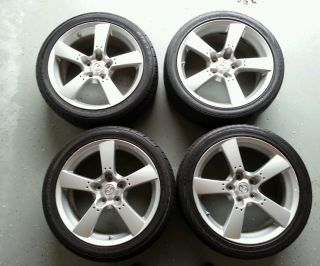 "Mazda RX8 18"" Hyper Silver Alloy Wheel Rims Rim Set"
