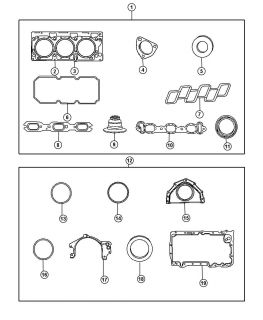 New Genuine Mopar 4663851 Fuel Injection Plenum Gasket
