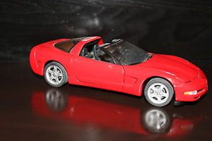 Beautiful Franklin Mint 1997 Red Corvette Convertible Parts or Repair as Is