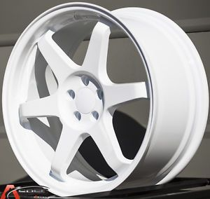 18x8 5 18x9 5 Varrstoen ES221 5x100 White Wheels Fit Scion Fr s Subaru BRZ 2013