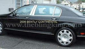 Bentley Continental Flying Spur Chrome Pillar Post Trim Stainless Steel Sedan