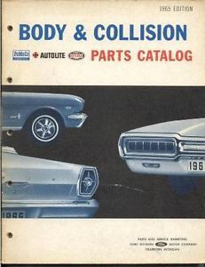 61 62 63 64 65 Ford Thunderbird Body Parts Adjust Book