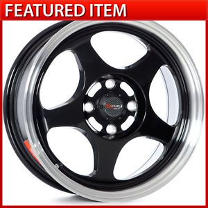 Drag Dr 23 15 15x6 5 4 100 40 Gloss Black Wheels Rims Honda Civic Acura Integra
