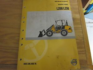 Volvo L20B L25B Wheel Loader Operators Manual Used