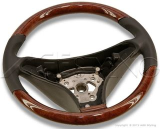Mercedes Benz SL R230 CLS Class W219 SLK R171 Wood Leather Steering Wheel New