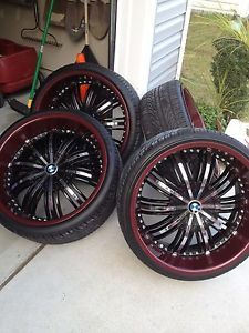 22inch Black Ice Chrome BMW Rims and Tires