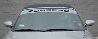 Black Silver Porsche Windshield Decal for 911 987 Carrera Boxster Cayman