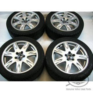 4 Volvo 17x7 5 Thor Alloy Rims Wheels Potenza Tires Caps for S60 V70 S80