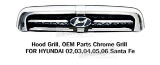 Genuine Parts Front Chrome Hood Radiator Grill for Hyundai 2002 2006 Santafe