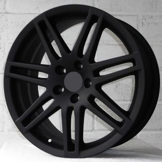 "18"" Audi TT Coupe 2006 2012 Matt Black Alloy Wheels 5x112"