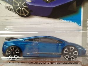2013 Hot Wheels HW City Lamborghini Gallardo LP 570 4 Superleggera Blue