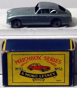 DTE Moko Lesney Matchbox Regular Wheels 53 1 MW CA Met Lt Green Aston Martin