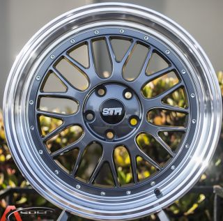 18x8 5 18x9 5 35 LM Style Str 601 5x114 3 Gun Metal Machined Lip 5x4 5 Wheel