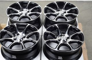 15 4x114 3 Black Polished Rims Nissan Versa galant Accent Volvo CL S40 Wheels