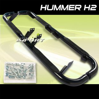 2003 2008 Hummer H2 Black Side Step Nerf Bar Running Board Set Pair New LH RH