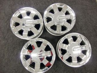 "Hummer H3 Factory 16"" Chrome Wheels Set of 4 with Center Caps 6303 Nice"