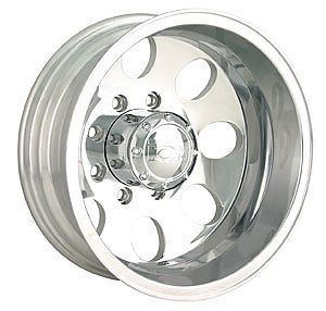 "16"" ion 167 Dually Polished Wheels Rims 8x6 5 8 Lug Chevy GMC Dodge Dually Truck"