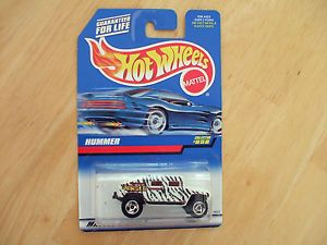 1998 Hot Wheels Hummer Jungle Zebra Stripes on Blue White Card